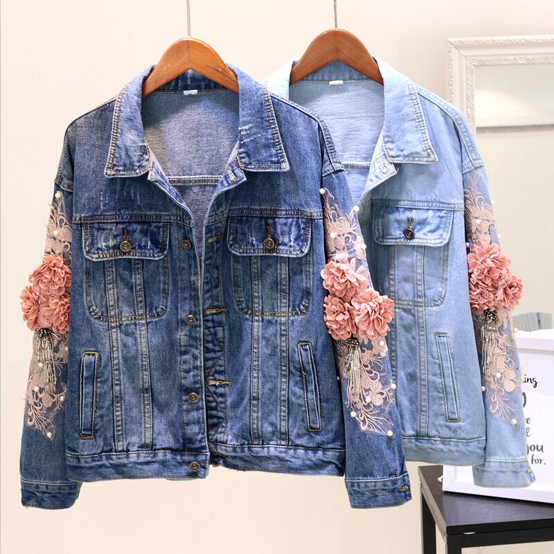 Short Slim Denim Coat Outerwear