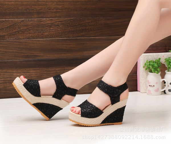 New Sandal Fish Head Fashion Platform