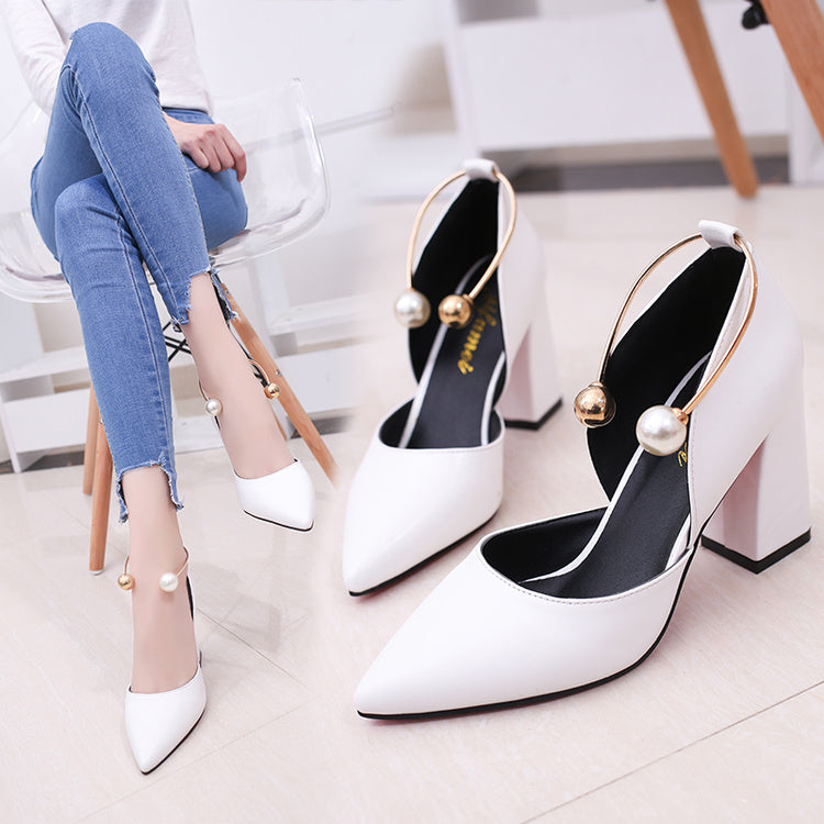Elegant Thick High Heel