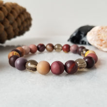Load image into Gallery viewer, Mookaite + Smoky Quartz Diffuser Bracelet
