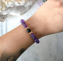 Load image into Gallery viewer, Simplicity Collection - Amethyst + Lava Stone Diffuser Bracelet