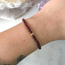 Load image into Gallery viewer, Simplicity Collection - 4mm Garnet Bracelet