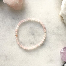 Load image into Gallery viewer, Simplicity Collection - 4mm Rose Quartz Bracelet