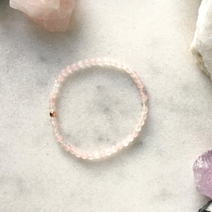 Simplicity Collection - 4mm Rose Quartz Bracelet