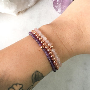 Simplicity Collection - Mini Set - Amethyst + Rose Quartz