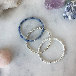 Simplicity Collection - Mini Set - Blue Aventurine + Howlite - Beneva Designs