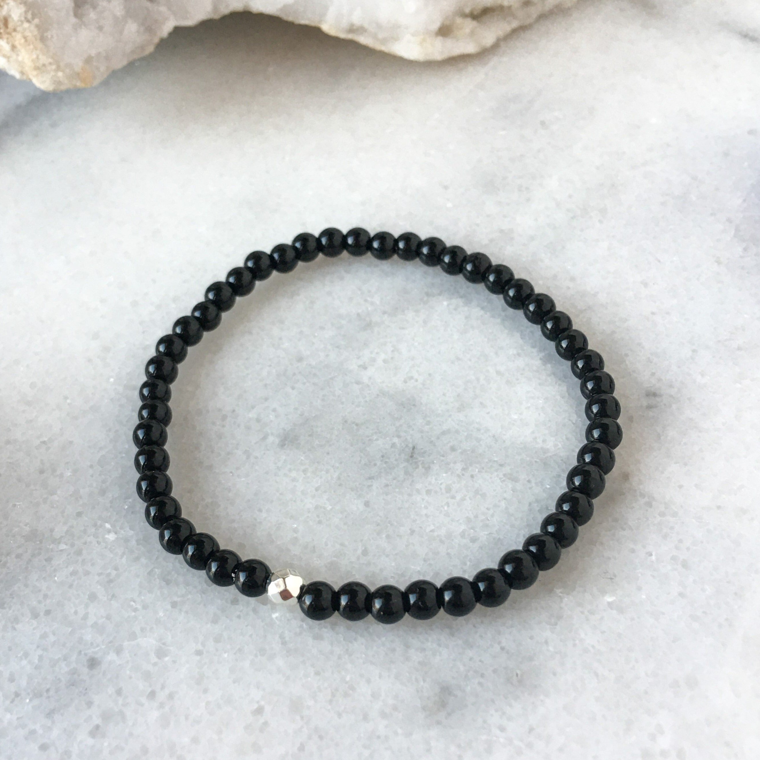 Simplicity Collection - 4mm Onyx Bracelet - Beneva Designs