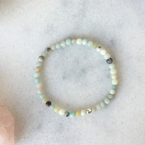 Simplicity Collection - 4mm Amazonite Bracelet