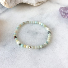 Load image into Gallery viewer, Simplicity Collection - 4mm Amazonite Bracelet