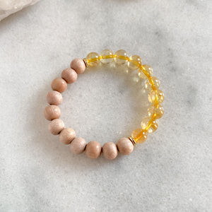 Happiness Bracelet | Citrine + Rosewood