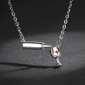 Wine Bottle Necklace - (Buy 1, Add 1 For Free)