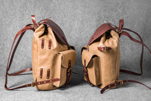 RETRO MOTORCYCLE BACKPACK - camel