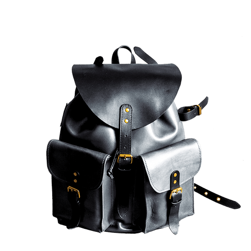 RETRO MOTORCYCLE BACKPACK - black