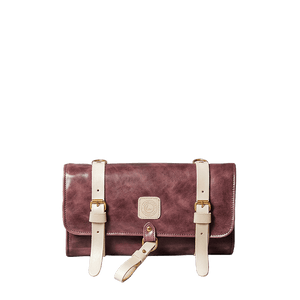 TRAVEL DOPP KIT - LEATHER - lavender