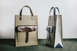 WASHABLE KRAFT PAPER TOTE - marine