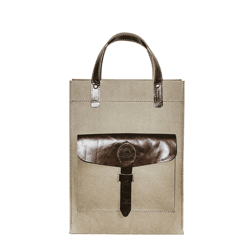WASHABLE KRAFT PAPER TOTE - coffee