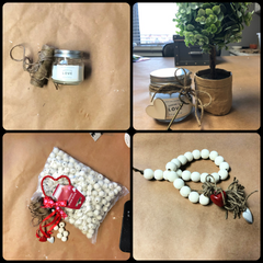 candle and beads diy