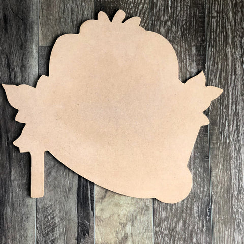 Blank Pumpkins & Wheelbarrow Door Hanger