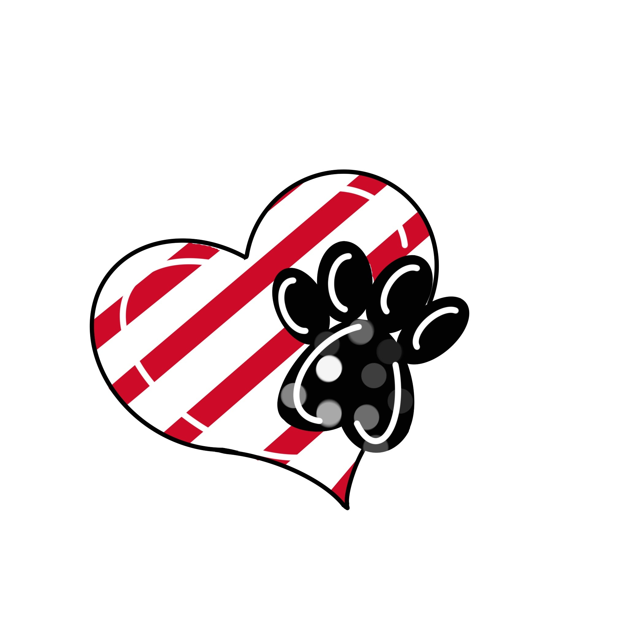 Heart & Paw Print Door Hanger Template & Digital Cut Files