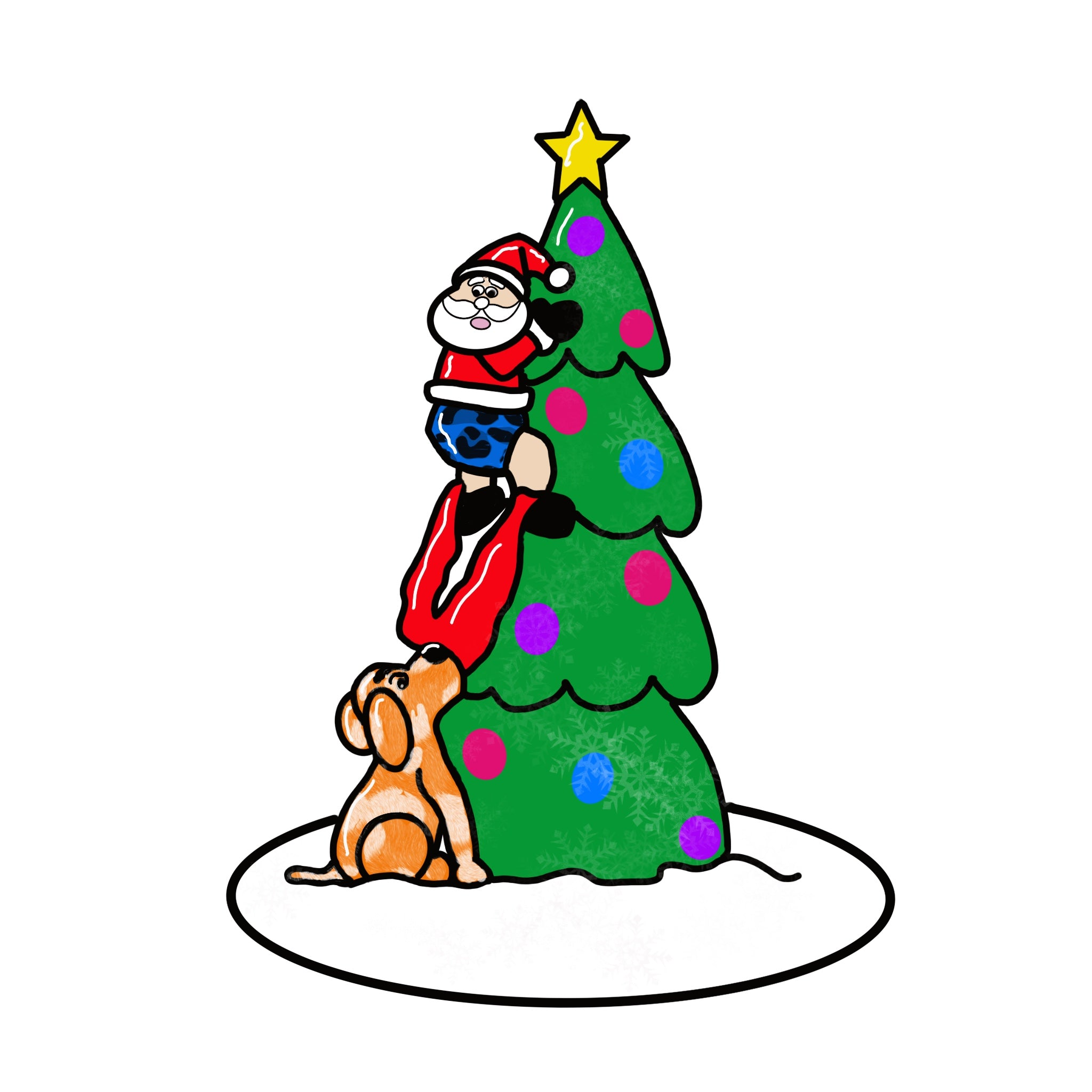 Santa & Christmas Dog Door Hanger Template & Digital Cut Files