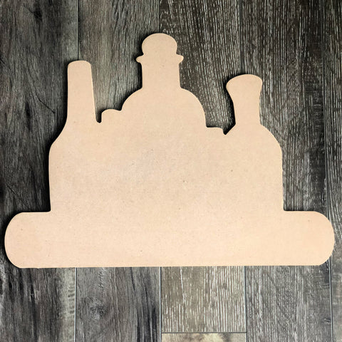 Blank Halloween Bottles Pick Your Poison Door Hanger