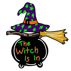 Witch Cauldron Door Hanger Template & Digital Cut Files