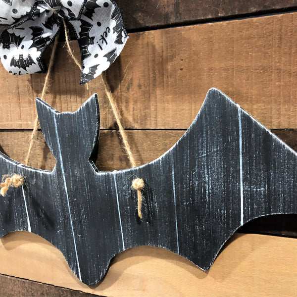 Distressed Shiplap Bat Door Hanger