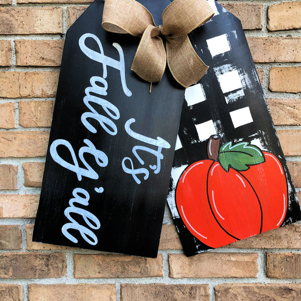 Happy Fall Y'all Door Hanger Tags