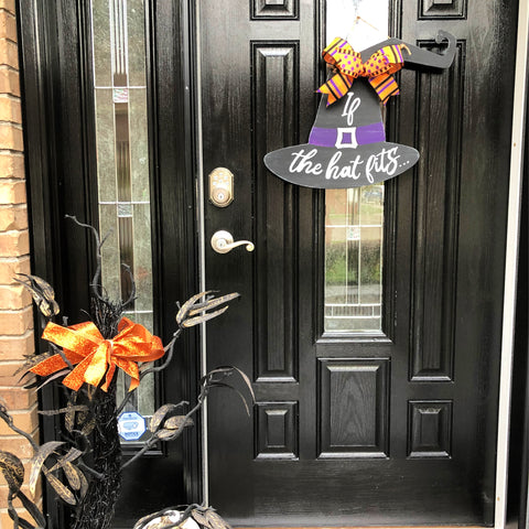 Halloween | Witch Hat Door Hanger