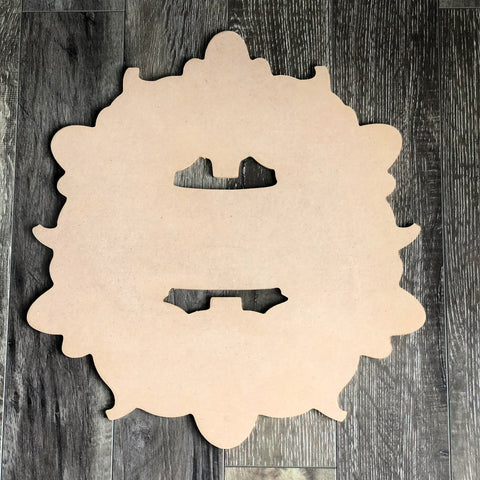 Blank Pumpkin Wreath Door Hanger