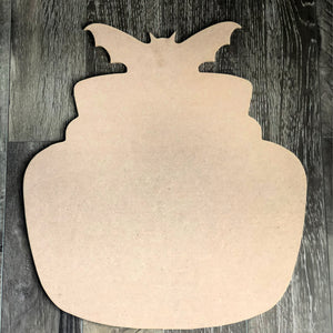 Blank Halloween Jar Bat Door Hanger