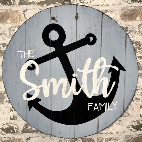 Personalized Last Name Anchor Hanger