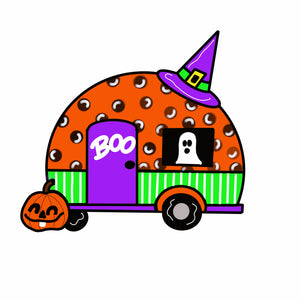 Halloween Camper Door Hanger Template & Digital Cut Files