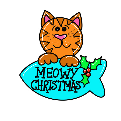 Christmas Cat Door Hanger Template & Digital Cut Files