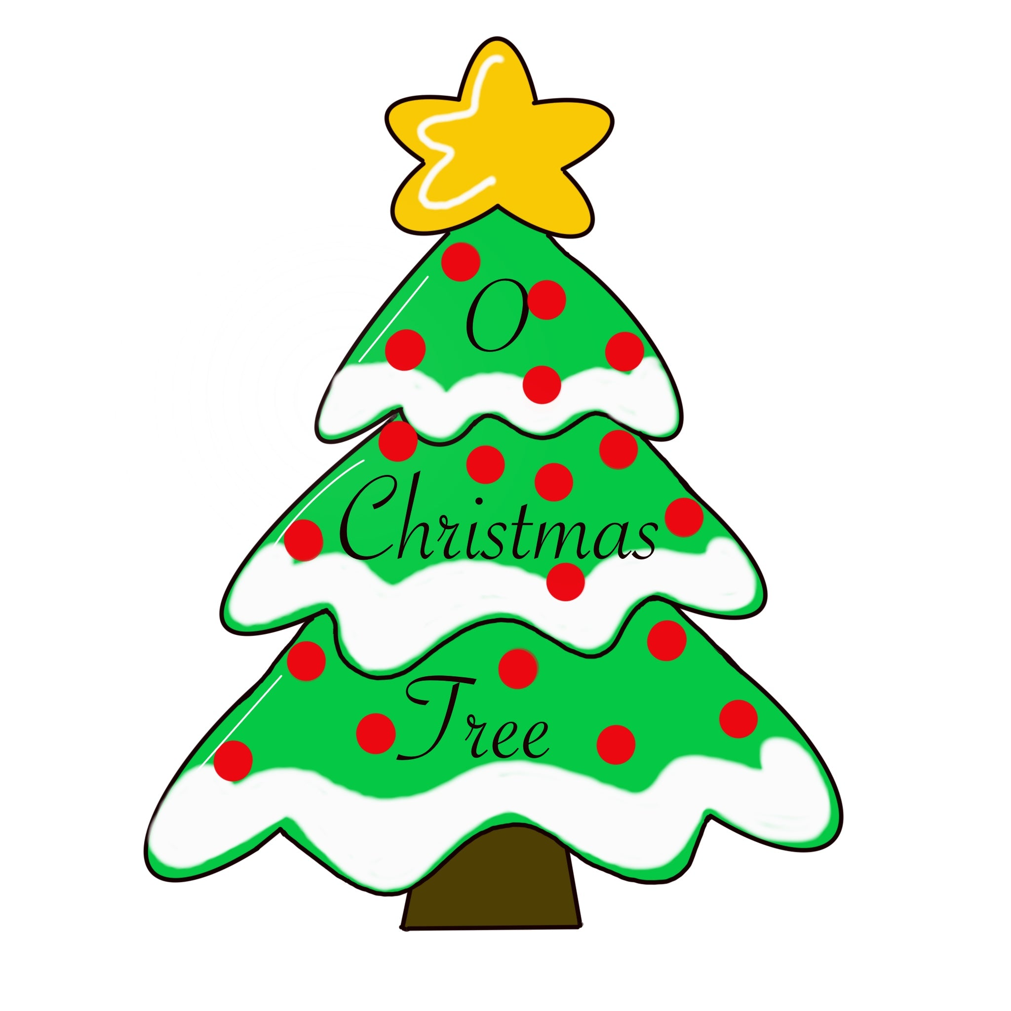 Christmas Tree Door Hanger Template & Digital Cut Files