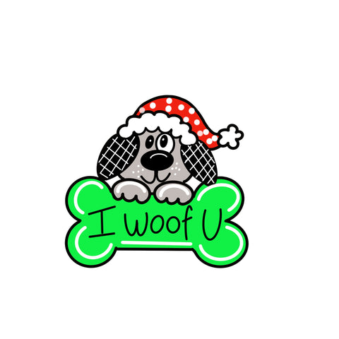Christmas Dog and Bone Door Hanger Template & Digital Cut Files
