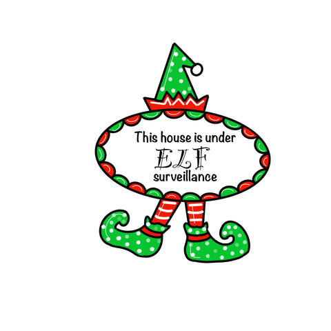 Christmas Elf Door Hanger Template & Digital Cut Files