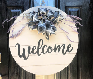 Farmhouse Lavender Door Hanger