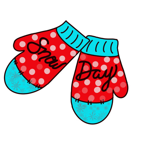 Christmas Mittens Door Hanger Template & Digital Cut Files