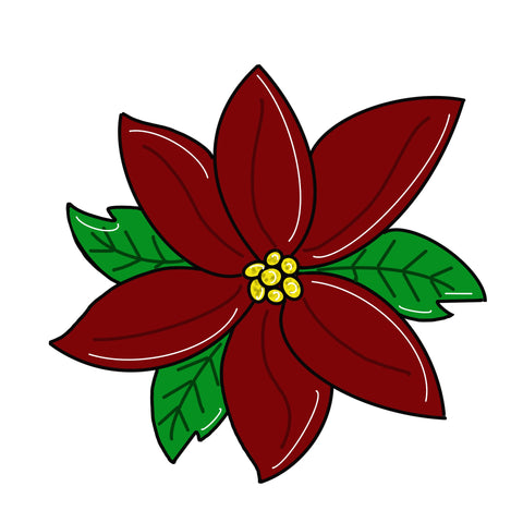 Poinsettia Door Hanger Template & Digital Cut Files