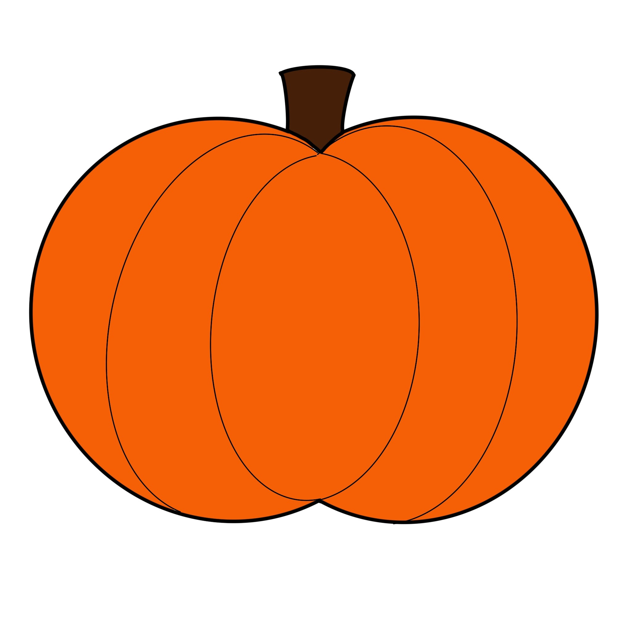 Basic Pumpkin Door Hanger Template & Digital Cut Files