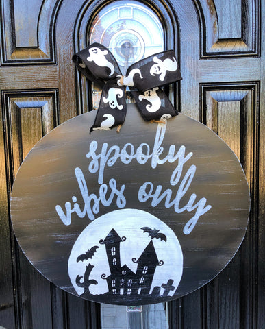 Spooky Vibes Only Halloween Hanger