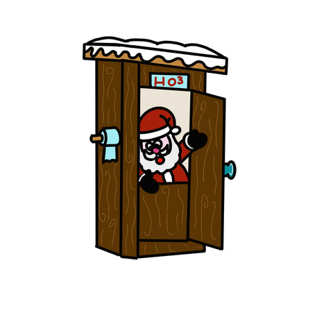 Santa Outhouse Door Hanger Template & Digital Cut Files