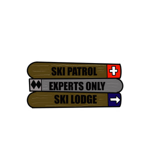 Snow Ski Door Hanger Template & Digital Cut Files