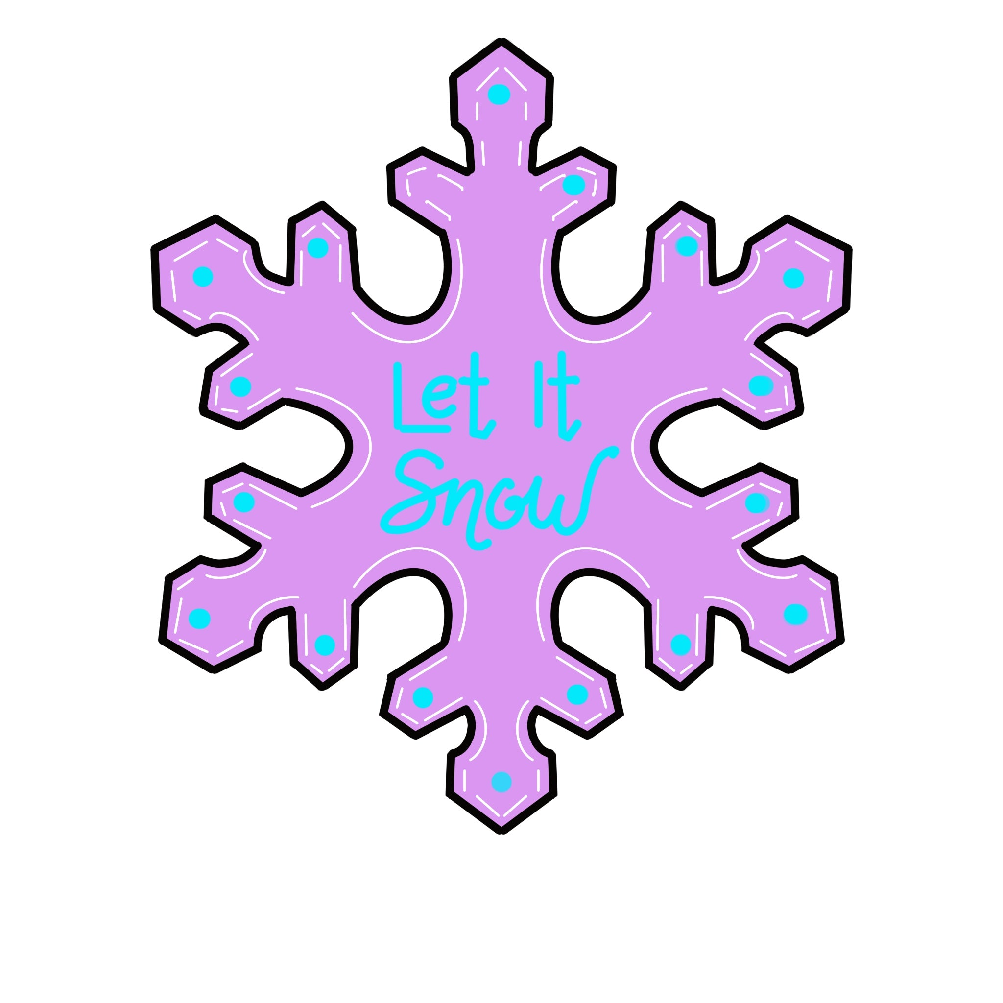 Let it Snow Snowflake Door Hanger Template & Digital Cut Files