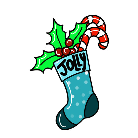 Holly Jolly Stocking Door Hanger Template & Digital Cut Files