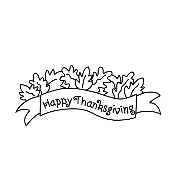 Happy Thanksgiving Banner Door Hanger Template & Digital Cut Files