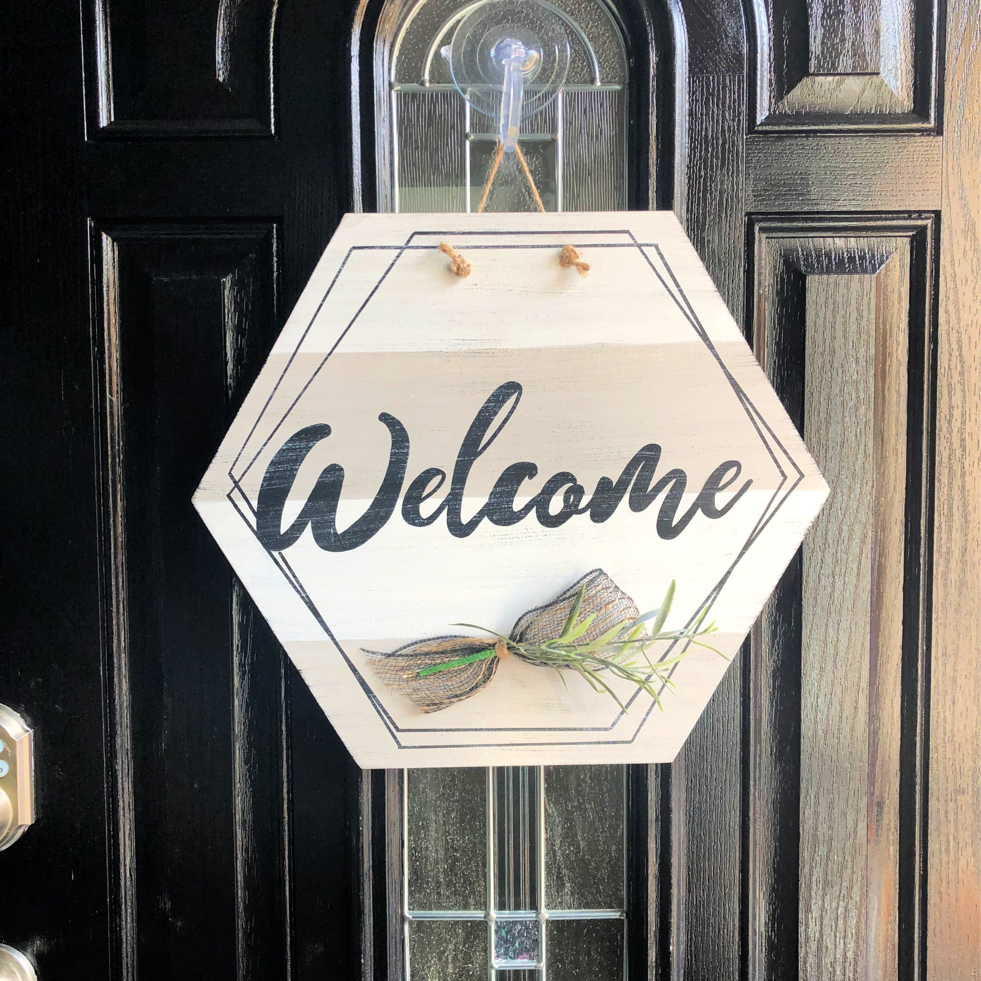 Hexagon Welcome Door Hanger