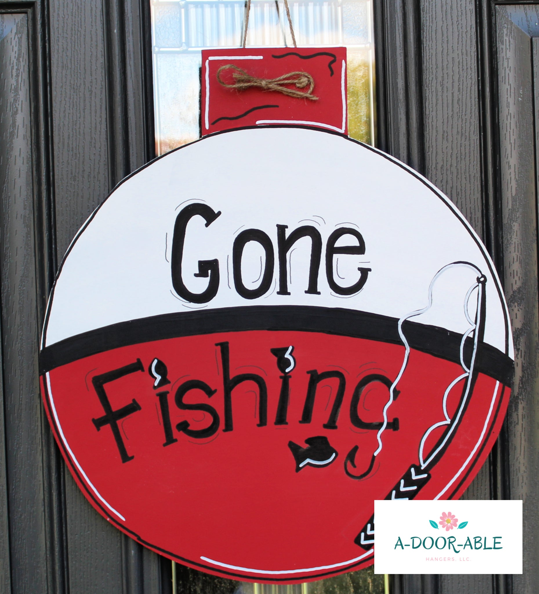 Gone Fishing Door Hanger