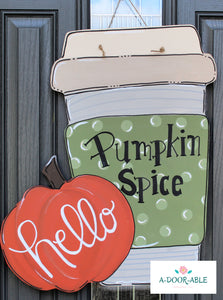 Pumpkin Latte Door Hanger